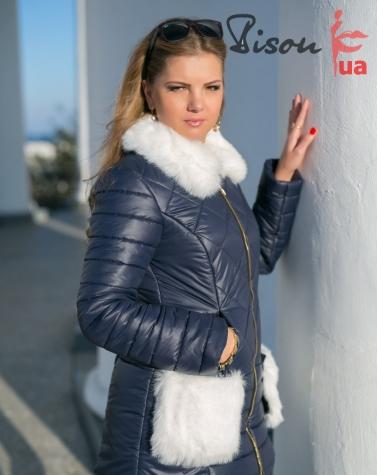 Куртка зимняя синяя  5046