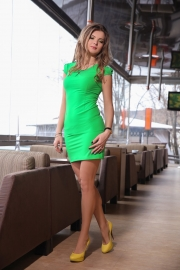 Платье зеленое 7487