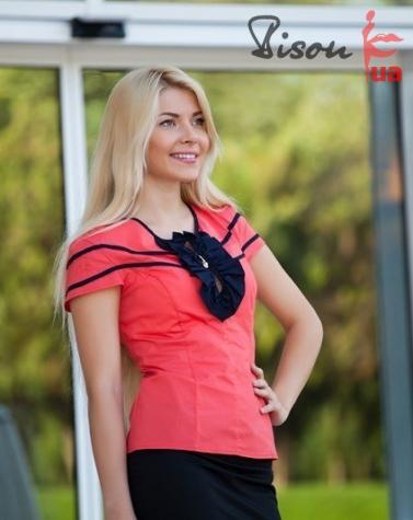Блуза коралловая 1235