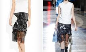 Пластиковая одежда – тренд сезона весна-лето 2015