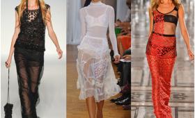 Прозрачные ткани – свежее веяние лета 2015