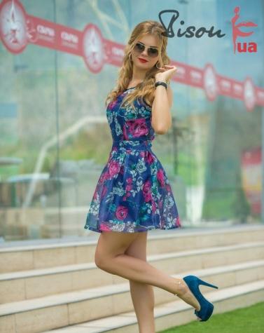 Платье 7570 синее