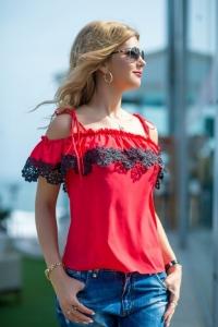 Блузка красная 1264