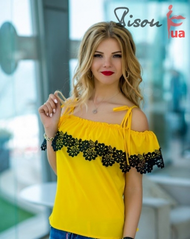 Блузка желтая 1264