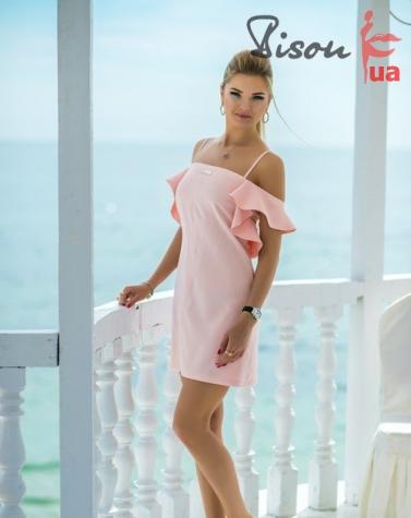 Платье пудра 7583