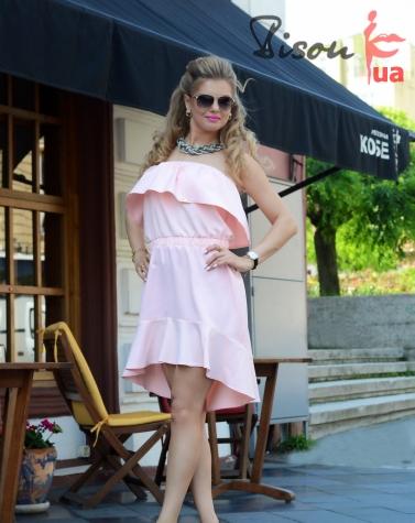 Платье пудра 7589
