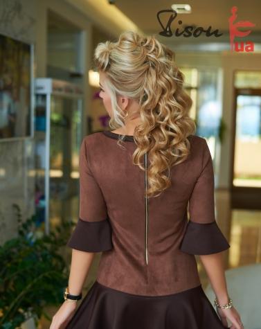 Платье коричневое 7622