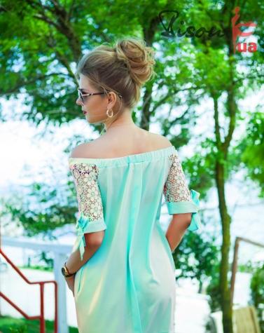 Платье ментоловое 7592