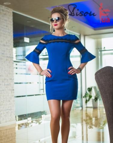Платье электрик 7649
