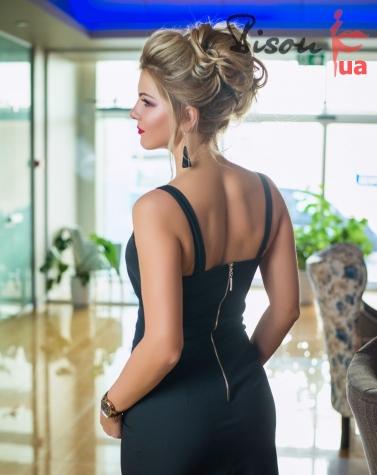 Платье чёрное 7654