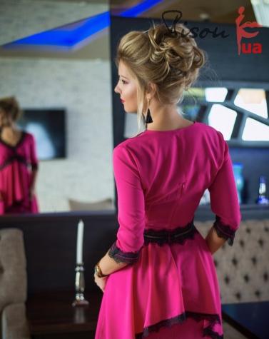 Платье розовое 7651