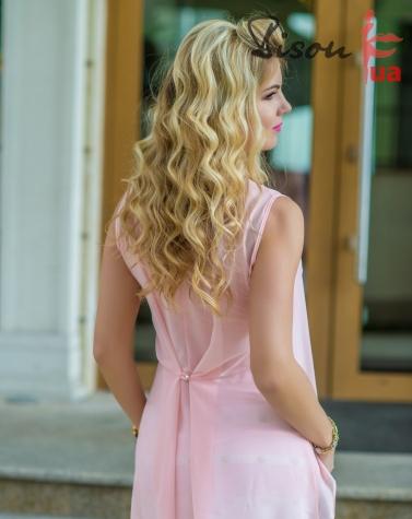 Платье пудра 7665