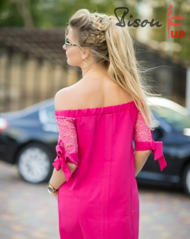 Платье малиновое 7592