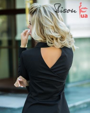 Блузка черная 1304