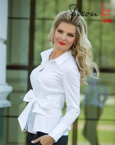 Блузка белая 1304