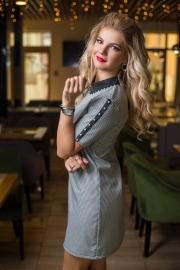 Платье с воротничком 7750