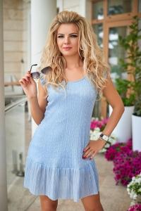 Платье голубое 7690