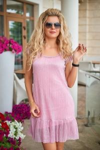 Платье розовое 7690