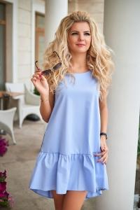 Платье с лампасом голубое 7772