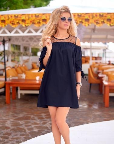 Платье чёрное 7777