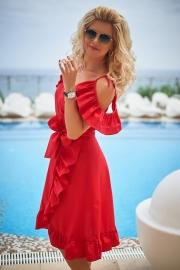 Платье красное 7771