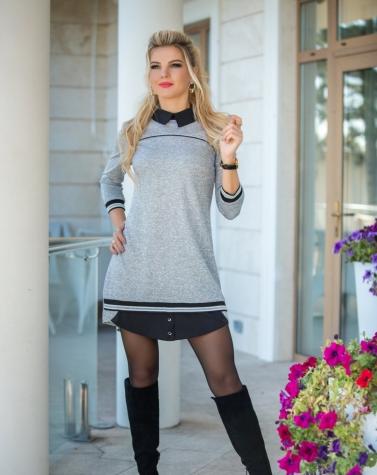 Платье с воротничком 7780