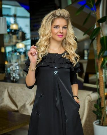 Платье с оборками 7655