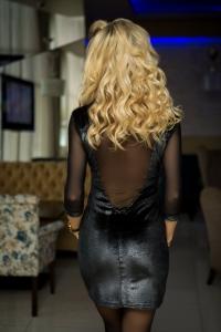 Платье с прозрачной спиной 7801