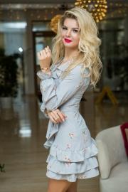 Романтичное платье с рюшами 7806