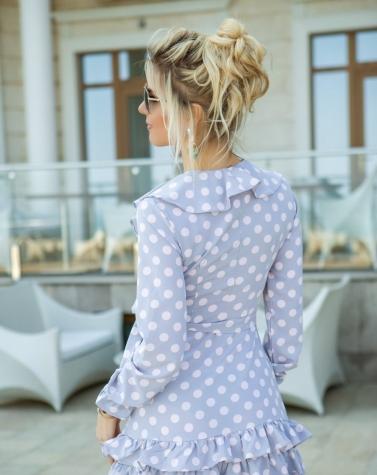 Платье с рюшами 7806