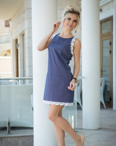 Платье в горошек 7679