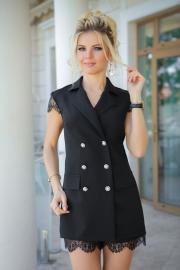 Комбинезон-пиджак с кружевом 7822