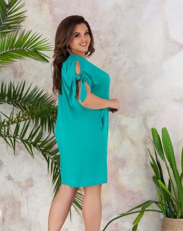 Платье с завязками на рукавах 7832