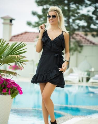 Платье с воланом 7834