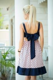 Платье с бантом в горошек 7827