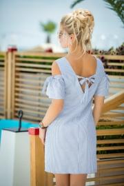 Хлопковое платье с люрексом 7762
