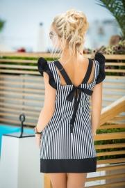 Контрастное платье в полосочку 7672