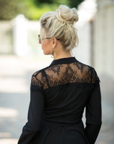 Блузка с кружевом на запах 1342