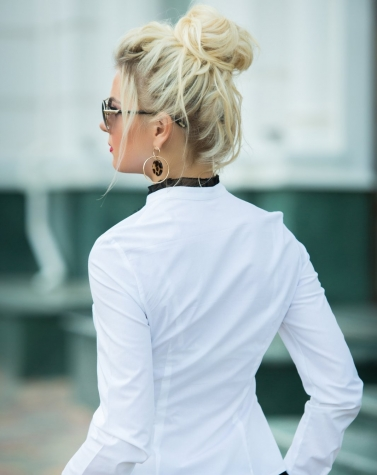 Блузка хлопковая с кружевом 1208