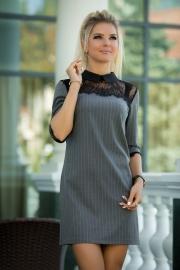 Платье с воротничком 7843