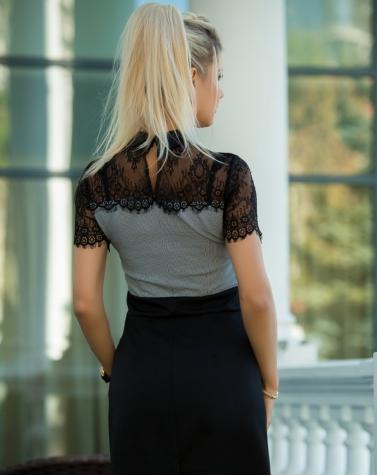 Платье с кружевом 7842