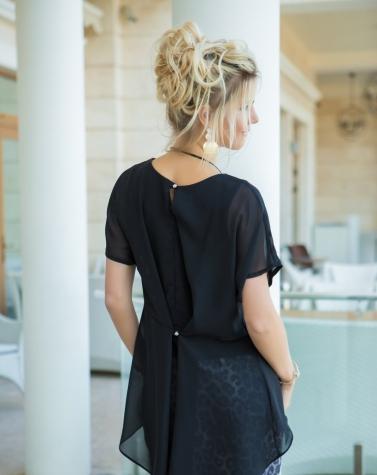 Платье с шифоном 7564