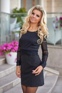 Эффектное чёрное платье 7851