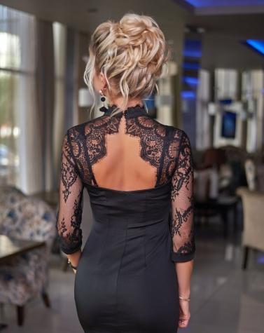 Элегантное черное платье 7864