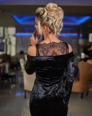 Платье с кружевными плечиками 7863