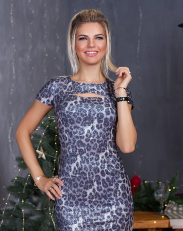 Платье со шнуровкой 7802