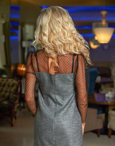 Изящное платье с пышным рукавом 7873
