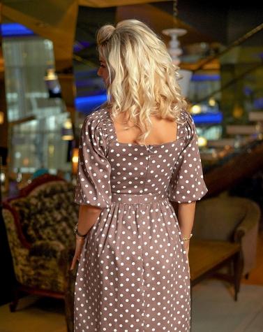 Платье в гороховый принт 7877