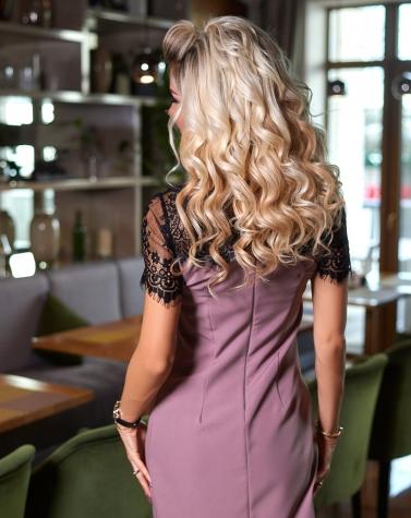 Элегантное платье с кружевом 7880