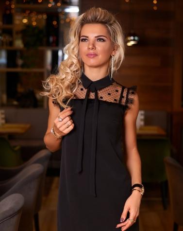 Платье черное 7747